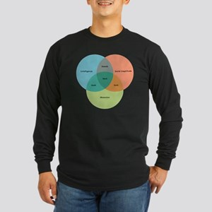 venn-diagram-alt Long Sleeve Dark T-Shirt